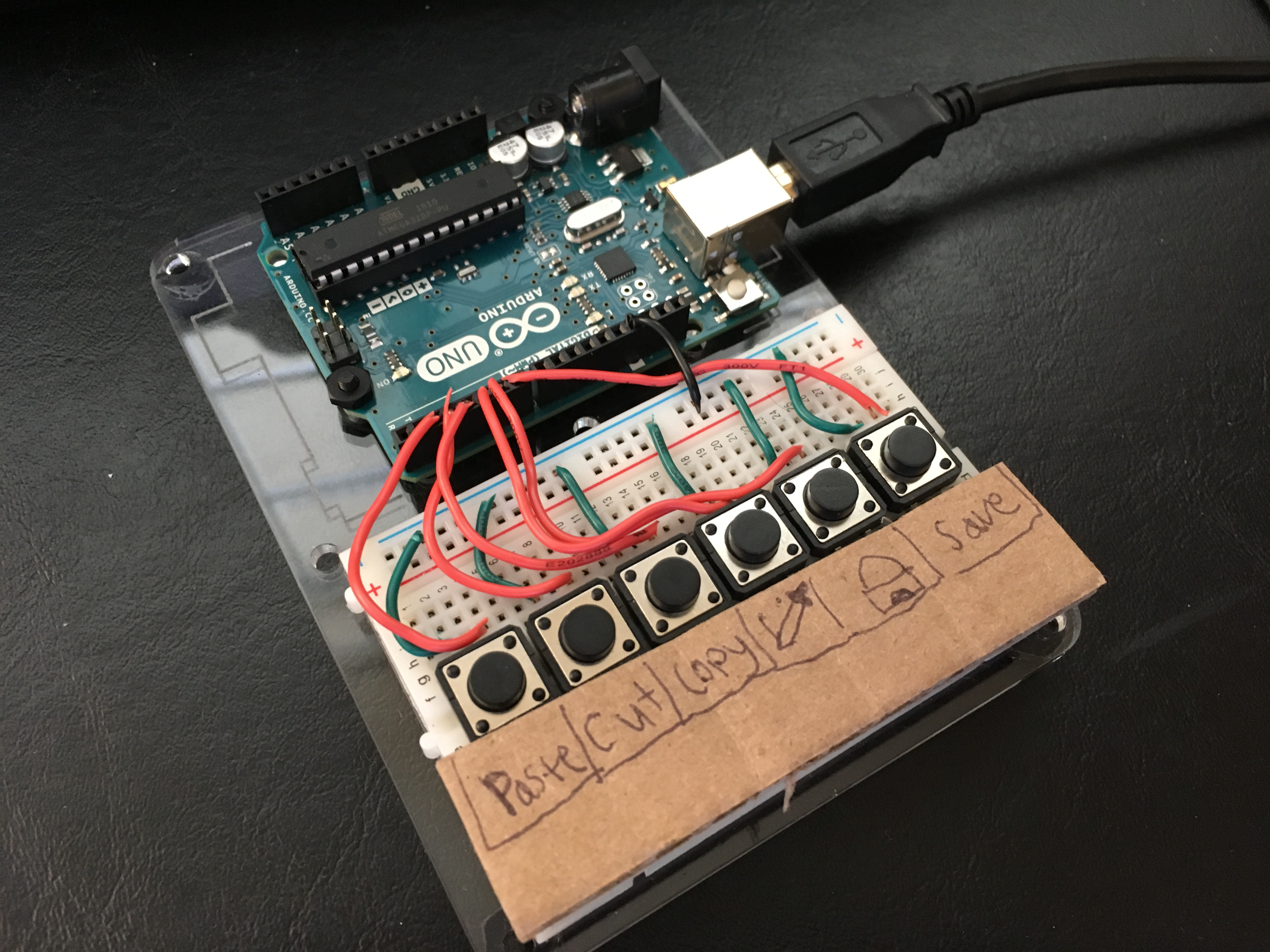 Prototype with cardboard interface